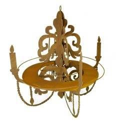 Kronleuchter für Kerzen zum Hängen mit Tablett Ablage, H 54 cm, B 50 cm