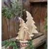 Baum im Wind aus angeflammten Holz perfekte Fensterbrettdeko
