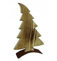 Deko Baum im Wind aus angeflammten Holz