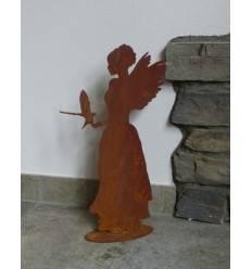 Engel Louisa mit Taube 40cm hoch, auf Bodenplatte