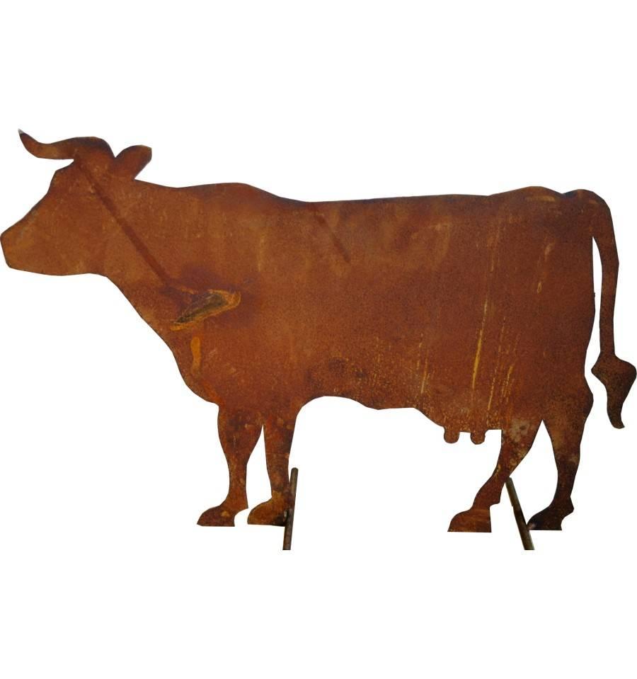 Edelrost bauernhof kuh stehend mittelgro 58 cm lang 41 for Tiere aus rostigem eisen