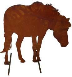Deko Pferd Edelrost