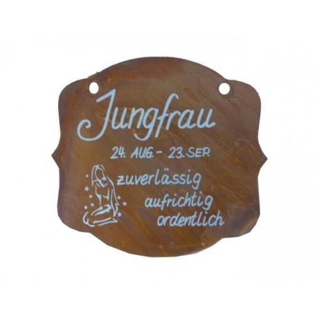 rostschild sternzeichen jungfrau 13 x 11 cm 24 august. Black Bedroom Furniture Sets. Home Design Ideas