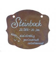 """Rostschild Sternzeichen """"Steinbock"""" 13 x 11 cm - 22.Dezember bis 20.Januar"""