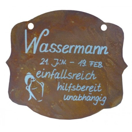 rostschild sternzeichen wassermann 13 x 11 cm 21 januar bis 19 februar. Black Bedroom Furniture Sets. Home Design Ideas