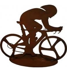 Edelrost Fahrradfahrer Rennrad 20 cm