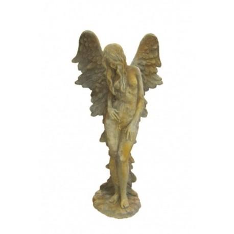 Steinguss Engelfrau SHEKINAH mit Rosteffekt 137 cm