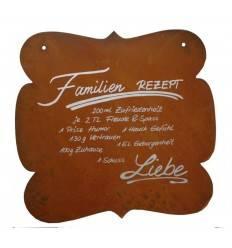 Tafel Familienrezept - inkl. Beschriftung