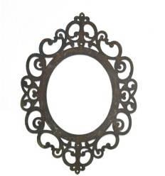 """Rahmen flach """"Ravenna"""" zum Hängen , oval mit Löchern ,30cm hoch"""