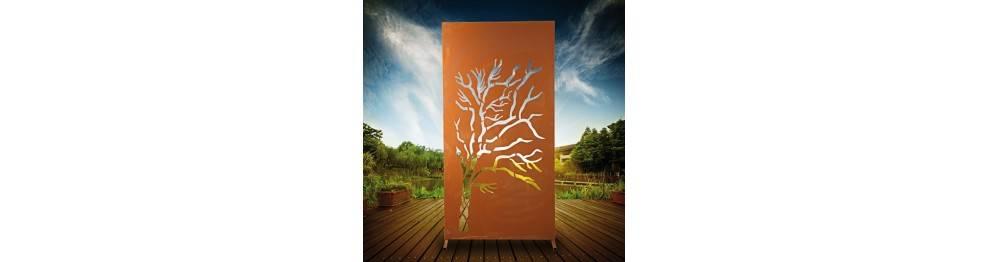 Trennnwand Garten Und Sichtschutzzaun 180 Cm Hoch Aus Metall Rost