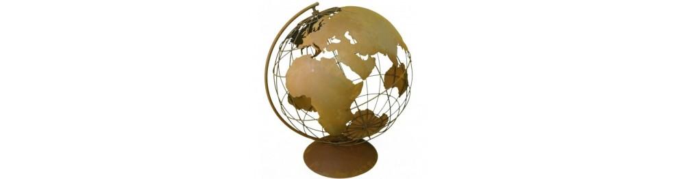 Weihnachtsdeko Globus.Globus Und Weltkarte Für Den Garten Günstig Online Kaufen Metallmichl
