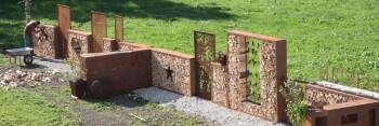 große Sichtschutzwand selber bauen