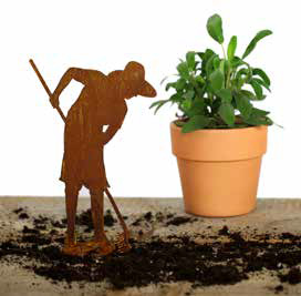 Frau als Gärtner Figur